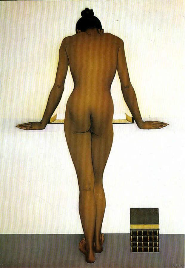 Обнаженная натура в изобразительном искусстве разных стран. Часть 178.