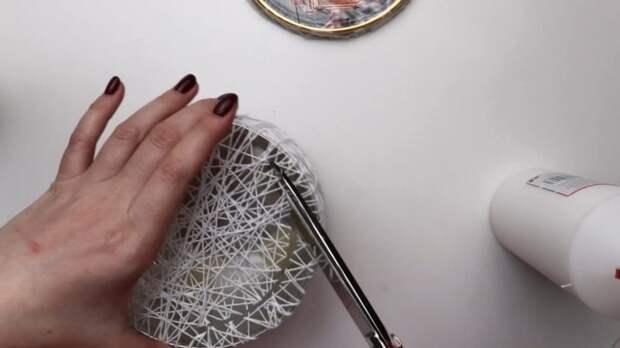 Красиво и просто для дома: возьмите нитки, ПВА и кружево