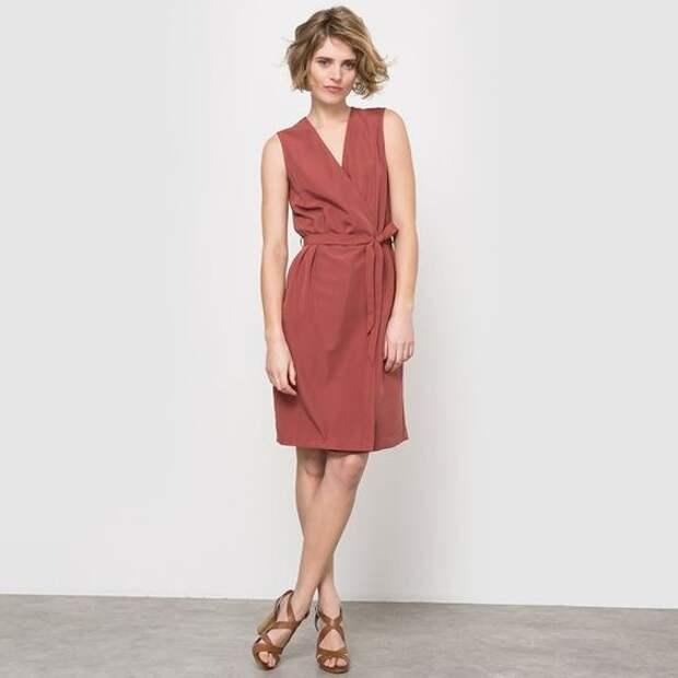 скачать выкройку платья с поясом на запах бесплатно