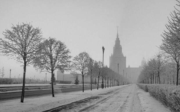 Вид на Московский университет.