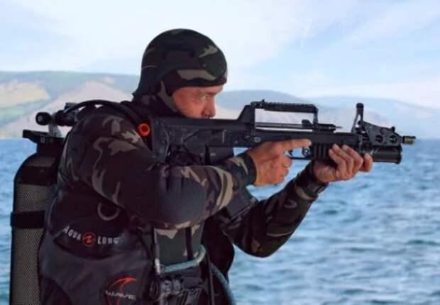АДС: как стреляет под водой автомат российских боевых водолазов