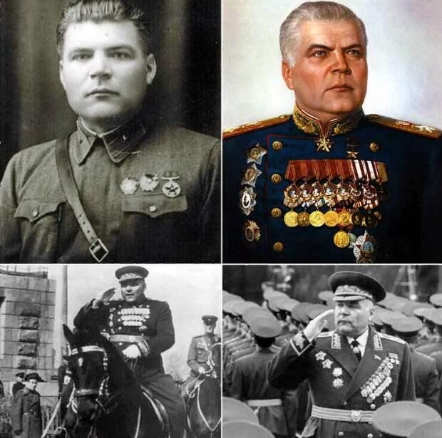 Родион Яковлевич Малиновский в разные периоды времени