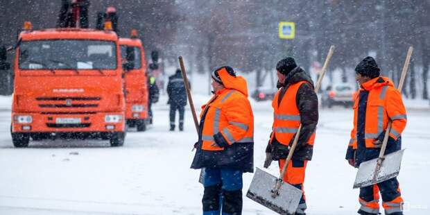 Снег складируют на газоны для его дальнейшего вывоза — «Жилищник»