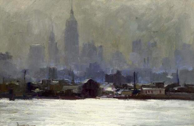 Картина MANHATTAN, CITY DAWN