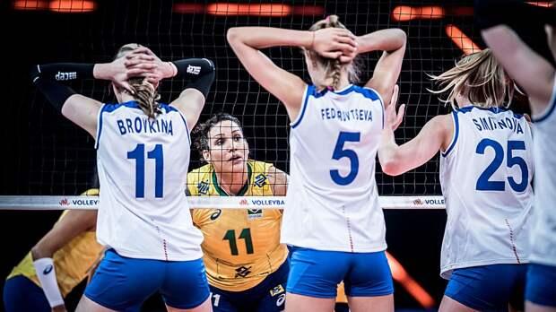Россия без шансов проиграла Бразилии в Лиге наций. Навязать борьбу не помог даже огненный спич Кошелевой