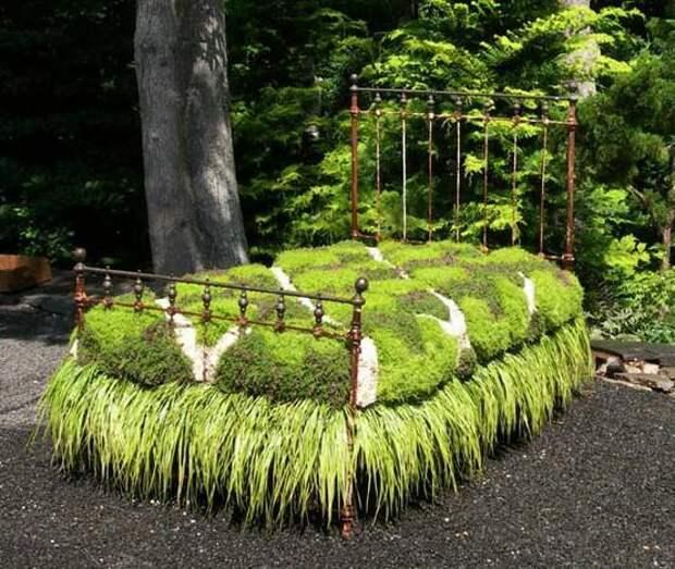 Мебель, застрявшая в ландшафтных текстурах