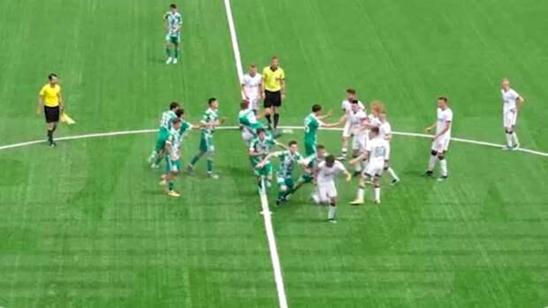Появилось видео массовой драки в Грозном на матче «Ахмат» — «Локомотив» в молодежном первенстве