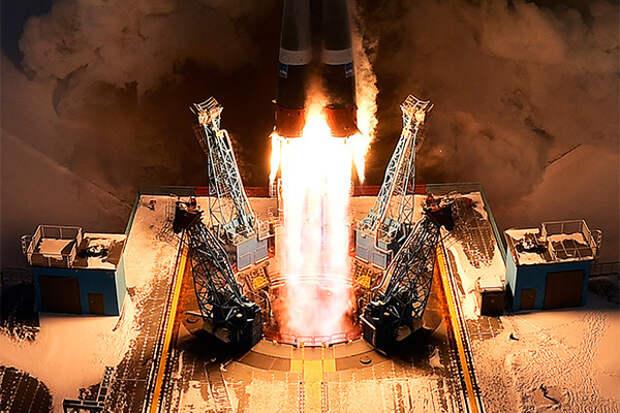 Пуск ракеты «Союз-2.1б»