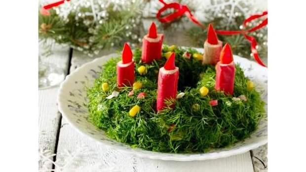 Украшение салатов на Новый 2021 год: как украсить, самые лучшие идеи28