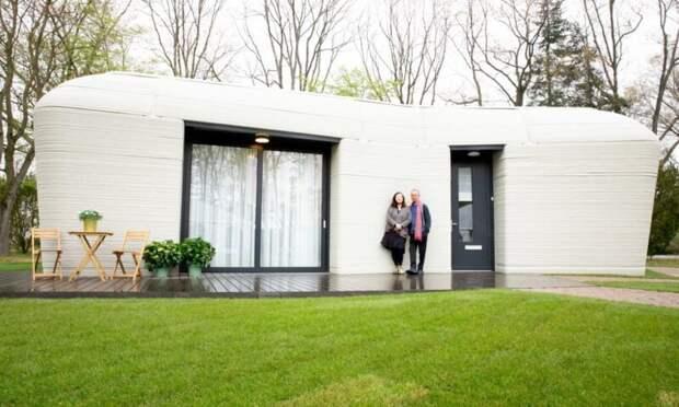 В первый в Европе жилой дом, напечатанный на 3D-принтере, заселились жильцы