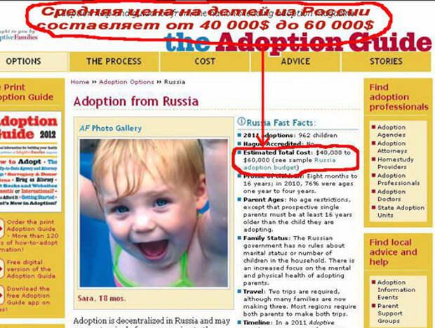 Герман Пятов: Дети на продажу. Международное усыновление — российский вариант.