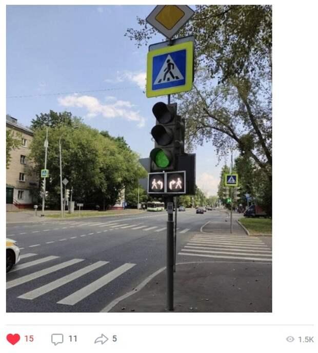 Фото дня: на Менжинского появился необычный светофор