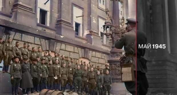 Телеканал RT опубликовал цветную хронику времён Великой Отечественной войны