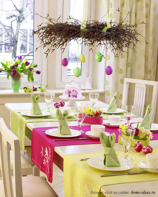 пасхальные идеи декора стола