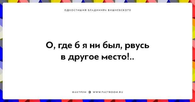 20 одностиший Владимира Вишневского для ценителей тонкого юмора