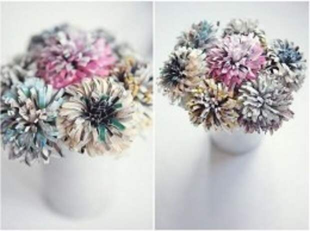 хризантема из бумаги