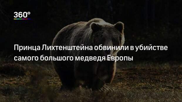Принца Лихтенштейна обвинили в убийстве самого большого медведя Европы