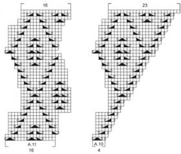 Белая шаль спицами - Схема 4