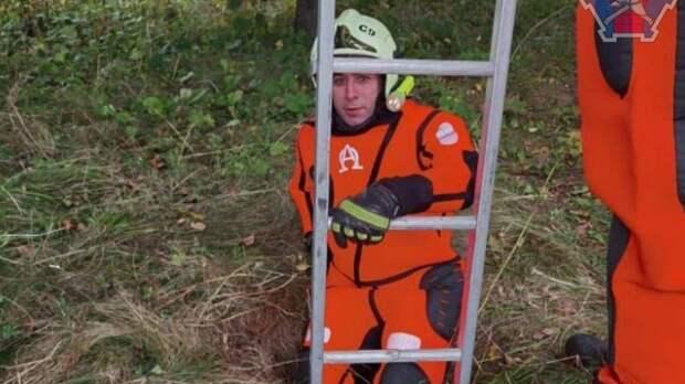 Спасатели достали собаку из колодца на севере Москвы