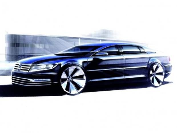 Volkswagen выпустит седан на базе Audi A6 уже в 2015 году