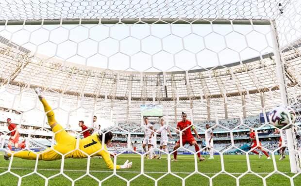 Видео всех голов Евро-2020 12.06.2021: Уэльс спасся против Швейцарии, Дания проиграла Финляндии, Бельгия разгромила Россию