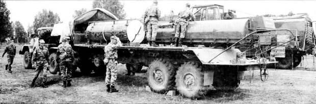 Активный пятиосный автопоезд для транспортировки ракетных систем и боеголовок авто, автопоезд