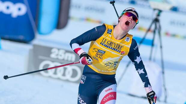 «Обновление по моей пятой точке». Американская лыжница Диггинс прокомментировала пикантную травму