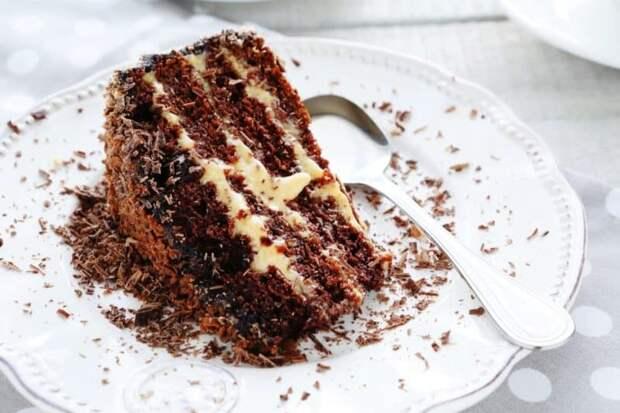 Шоколадный торт со сгущёнкой