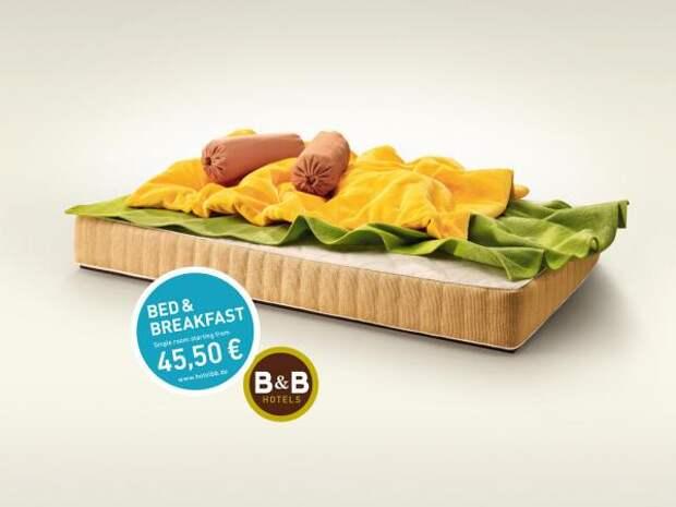 B&B Hotels: Eggs, B&B Hotels, Publicis Frankfurt, Печатная реклама