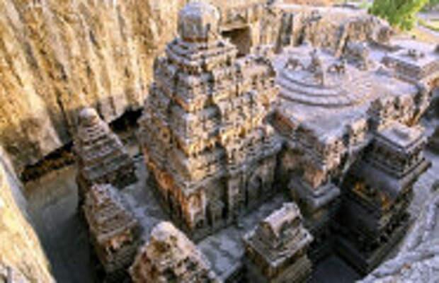 История и археология: Загадка древнего индийского храма, который вырезан из цельной скалы