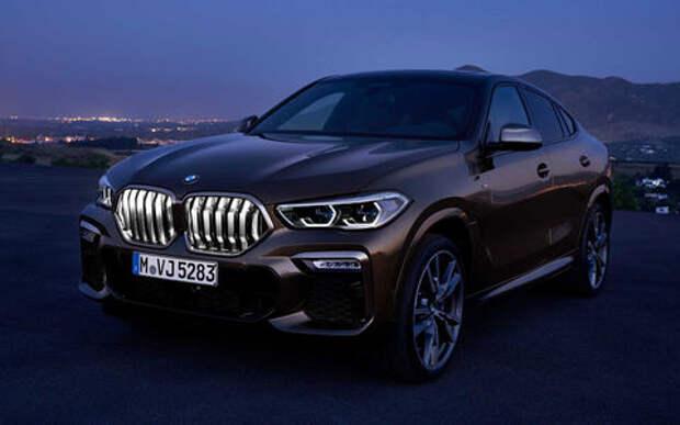 Новый BMW X6 светится в темноте