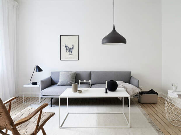 Гостиная в стиле минимализм. | Фото: Pinterest.