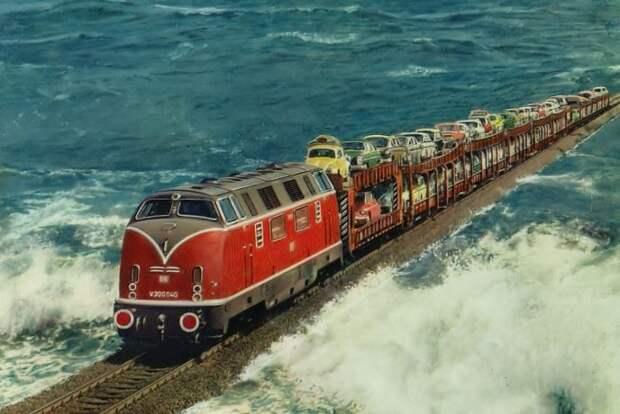 7 поездов, которые проходят через самые необычные места, image #13