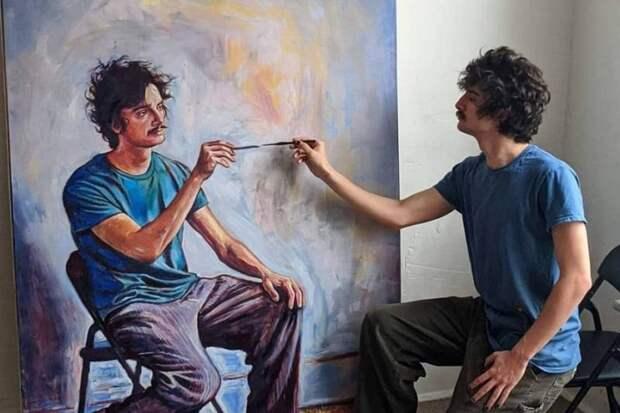 Япишу автопортрет, накотором япишу автопортрет: Шеймес Рэй иего рекурсия