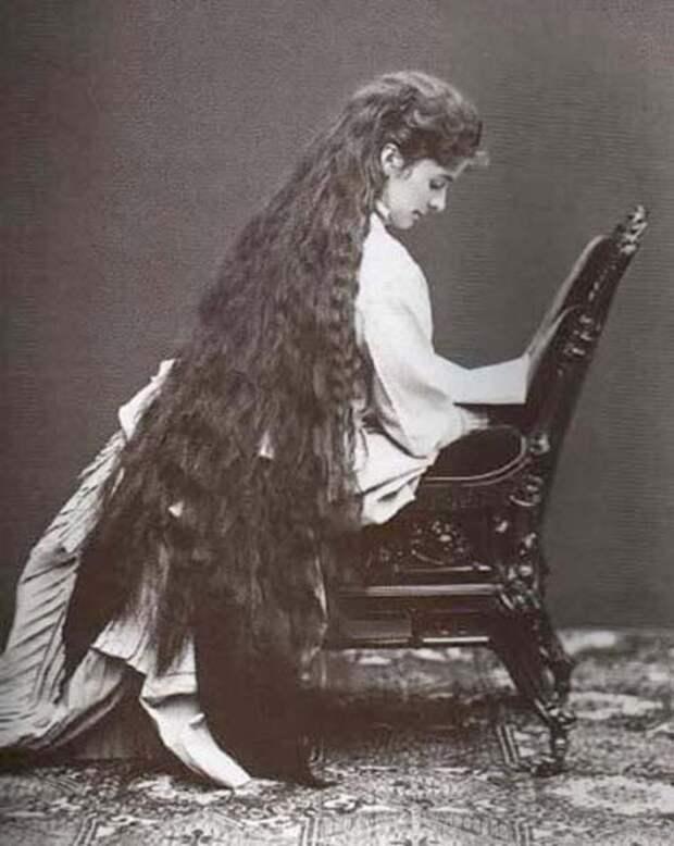 Rapunzels02 История красоты — известные «рапунцели» XIX века