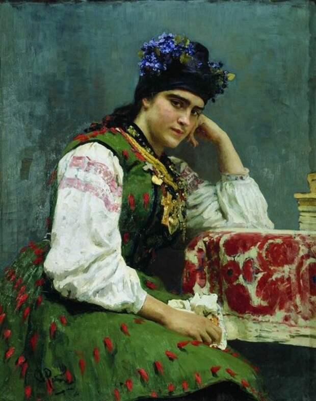 Портрет С. М. Драгомировой. Илья Ефимович Репин, 1889