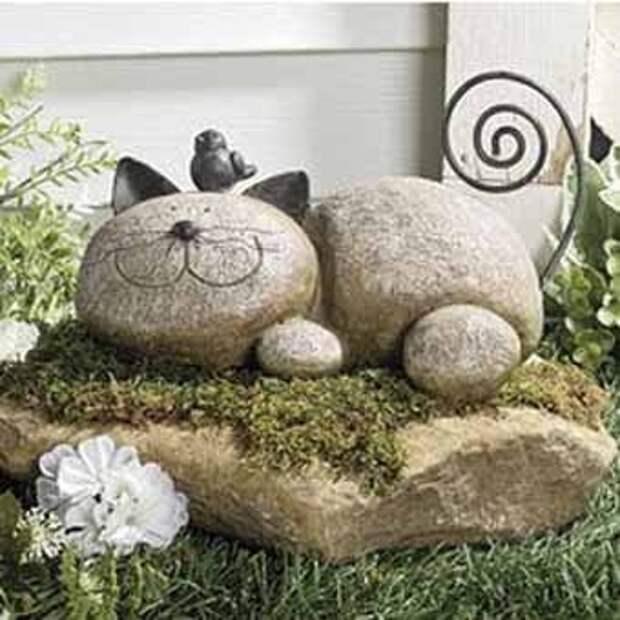 фигурки из камня для дачи