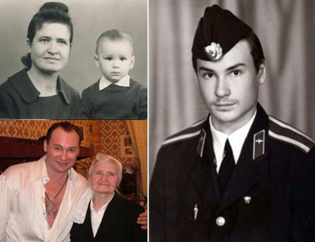 Александр Песков (слева с мамой) (фото из свободного доступа в интернете)