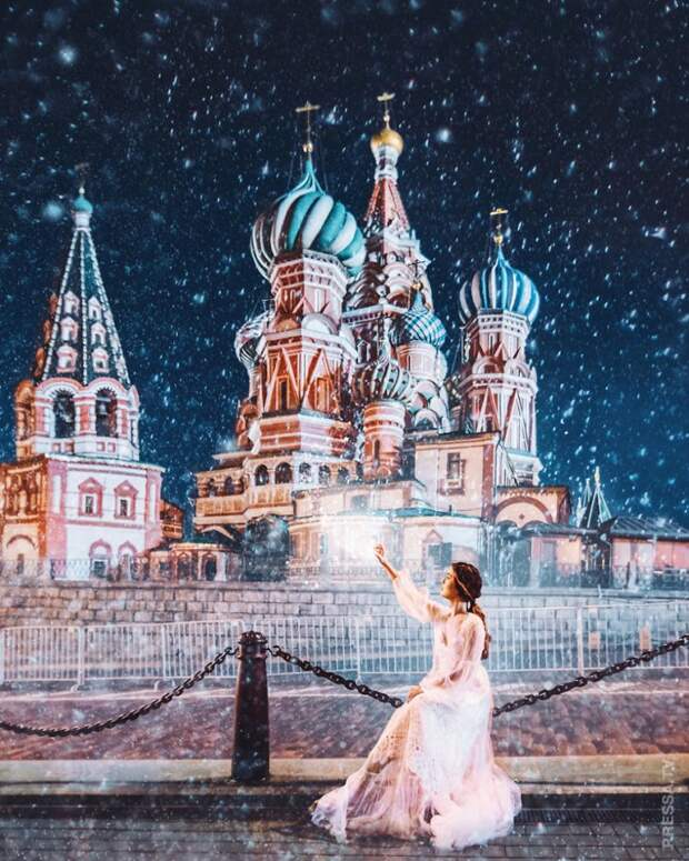Зимняя Москва выглядит, как сказка