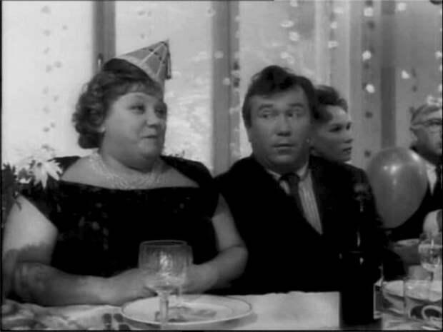 кадр из фильма «Как рождаются тосты», 1962 год, Эмилия Трейвас и Юрий Медведев