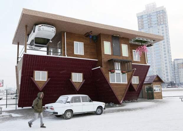 Перевёрнутый дом в Красноярске