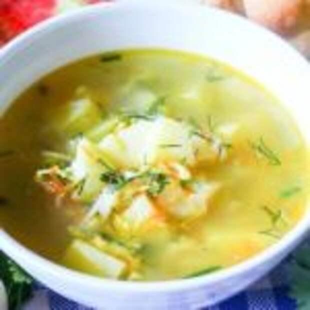 Куриный суп с яйцом и вермишелью.