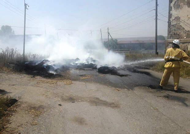 В ЮВО проведена проверка готовности систем обнаружения и тушения пожаров