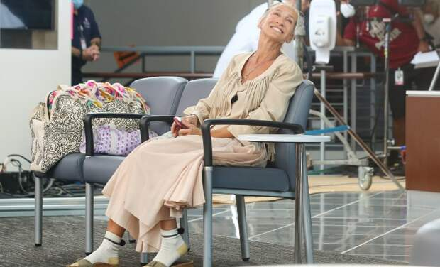 """Кэрри уже не та: Сара Джессика Паркер в сланцах на съемках продолжения """"Секса в большом городе"""""""