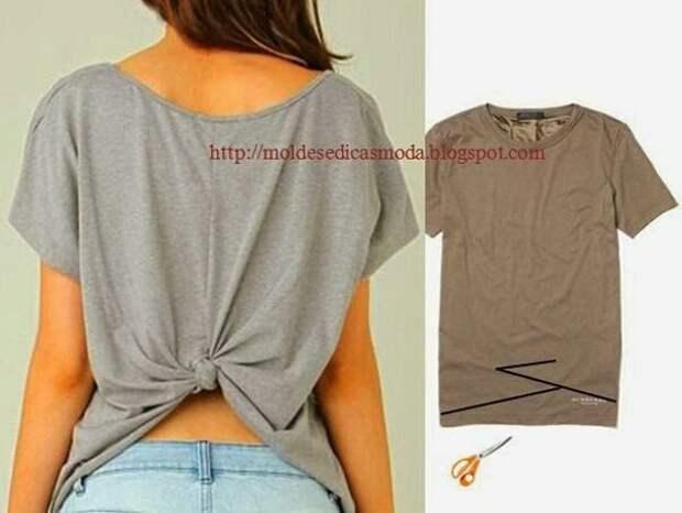 Переделка спинки футболки