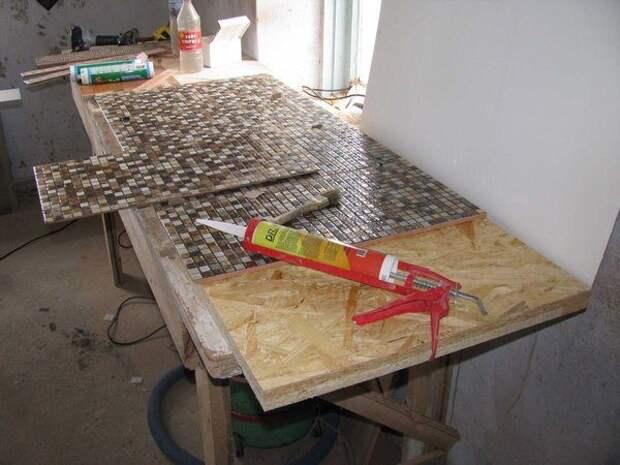 Столешница под раковину из плитки своими руками