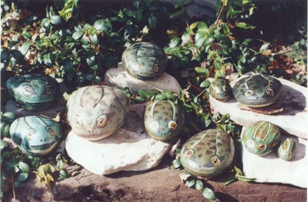 Роспись садовых булыжников, камней / камни плоские гладкие овальные