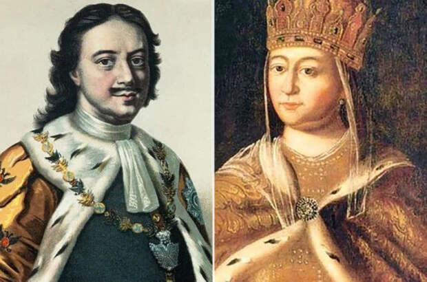 Петр I и Евдокия. \ Фото: planeta-zakona.ru.