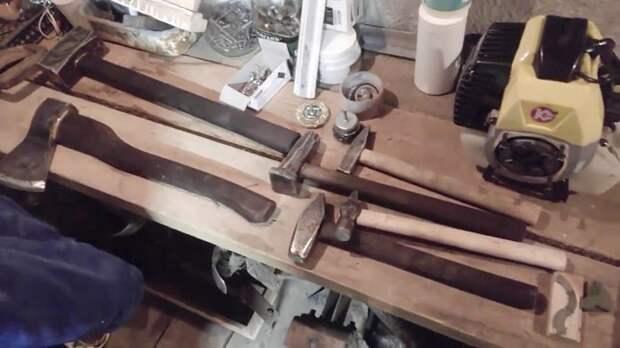 Как намертво насадить молоток на рукоять без клина