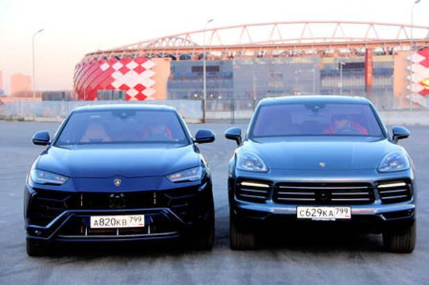 Lamborghini Urus и Porsche Cayenne: царская охота